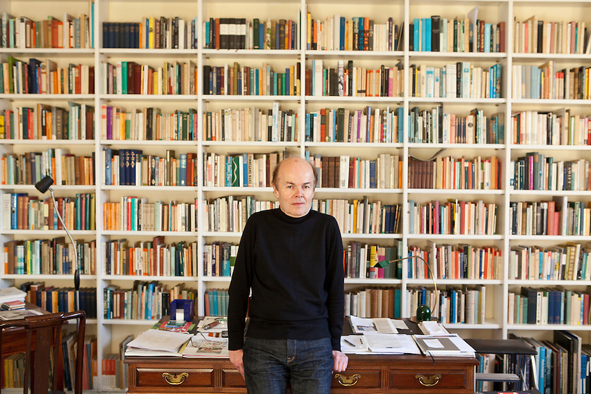 Christopher Jefferies, photographed at his flat in Bristol. Jefferies suffered massive press intrusion into his life after being wrongly accussed of being involved in the murder of his tenant Joanna Yates.
