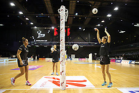 18.10.2018 Silver Ferns Te Paea Selby-Rickit in action during the Silver Ferns v Australia netball test match at the TSB Arena in Wellington. Mandatory Photo Credit ©Michael Bradley.