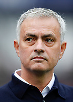 23rd November 2019; London Stadium, London, England; English Premier League Football, West Ham United versus Tottenham Hotspur; Tottenham Hotspur Manager Jose Mourinho looking at the Photographers from the touchline before kick off - Strictly Editorial Use Only. No use with unauthorized audio, video, data, fixture lists, club/league logos or 'live' services. Online in-match use limited to 120 images, no video emulation. No use in betting, games or single club/league/player publications