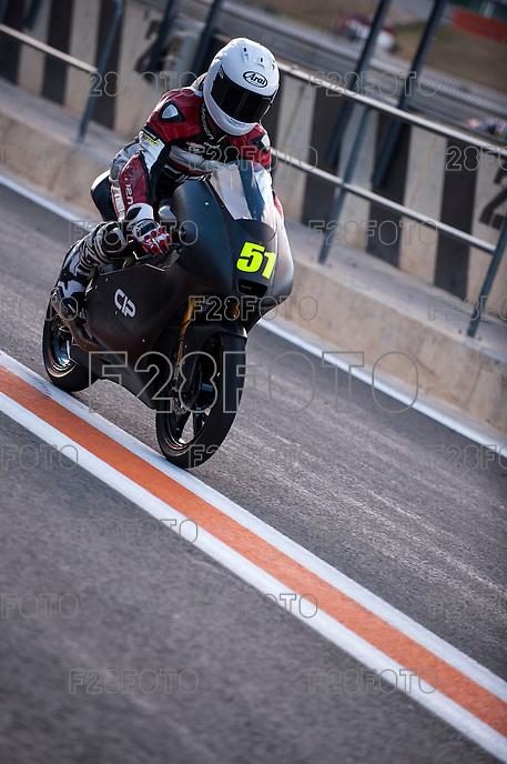 Bryan Schouten in pit line at pre season winter test IRTA Moto3 & Moto2 at Ricardo Tormo circuit in Valencia (Spain), 11-12-13 February 2014