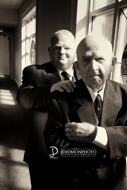 Father and Son before wedding.