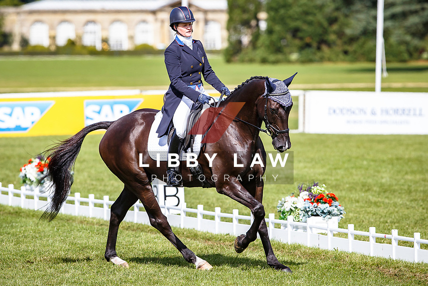 USA-Kimberly Severson rides Cooley Cross Border during the CCI3* Dressage. Interim-3rd. 2017 GBR-SsangYong Blenheim Palace International Horse Trial. Thursday 14 September. Copyright Photo: Libby Law Photography
