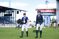 AUS-Isabel English walks the course with her coach: GER-Michael Jung, during the DHL-Preis CICO3* Teilprüfung Springen. 2017 GER-CHIO Aachen Weltfest des Pferdesports. Friday 21 July. Copyright Photo: Libby Law Photography