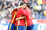 Spain's Alvaro Morata celebrates goal during friendly match. June 1,2016.(ALTERPHOTOS/Acero)
