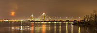63895-15906 Clark Bridge at night Alton IL