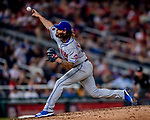 21 September 2018: New York Mets pitcher Robert Gsellman closes out the game in the 9th inning against the Washington Nationals at Nationals Park in Washington, DC. The Mets defeated the Nationals 4-2 in the second game of their 4-game series. Mandatory Credit: Ed Wolfstein Photo *** RAW (NEF) Image File Available ***