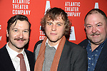 Billy Carter, Johnny Flynn and Mark Addy attends the 'Hangmen' Opening Night After Party at the The Gallery at the Dream Downtown on February 5, 2018 in New York City.
