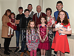 Paddy and Patricia Townley celebrating their 50th wedding anniversary with all their grandchildren in The Monasterboice Inn. Photo:Colin Bell/pressphotos.ie