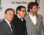 BEVERLY HILLS, CA - OCTOBER 22: Robert De Niro, David O. Russell and Bradley Cooper arrive at the 16th Annual Hollywood Film Awards Gala presented by The Los Angeles Times held at The Beverly Hilton Hotel on October 22, 2012 in Beverly Hills, California.