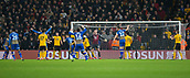 5th February 2019, Molineux Stadium, Wolverhampton, England; FA Cup football, 4th round replay, Wolverhampton Wanderers versus Shrewsbury Town; James Bolton of Shrewsbury Town scores the equaliser in the 11th minute 1-1