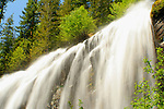 Portion of Silver Falls on Silver creek, a tributary of the Entiat River north of Wenatchee Washington