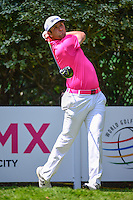 Jon Rahm (ESP) watches his tee shot on 4 during round 3 of the World Golf Championships, Mexico, Club De Golf Chapultepec, Mexico City, Mexico. 3/4/2017.<br /> Picture: Golffile | Ken Murray<br /> <br /> <br /> All photo usage must carry mandatory copyright credit (&copy; Golffile | Ken Murray)