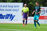 Bersant Celina of Swansea City celebrates scoring his side's second goal during the pre season friendly match between Exeter City and Swansea City at St James Park in Exeter, England, UK. Saturday, 20 July 2019