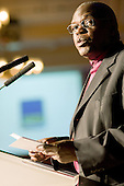 Dr John Sentamu, Archbishop of York, addresses a charity event at the Waldorf Hotel, London