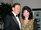 Bobby Cox, Manager, Atlanta Braves and his wife, Pam, arrive at the White House in Washington, DC for the State Dinner honoring President Carlos Menem of Argentina on Thursday, November 14, 1991.<br /> Credit: Ron Sachs / CNP