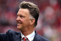 Pictured: Manchester United manager Louis Van Gaal. Saturday 16 August 2014<br /> Re: Premier League Manchester United v Swansea City FC at the Old Trafford, Manchester, UK.