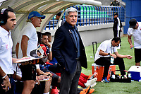 MONTERÍA - COLOMBIA ,20-10-2018: Octavio Zambrano director técnico del Independiente Medellín  durante  partido contra Jaguares de Córdoba  partido por la fecha 16 de la Liga Águila II 2018 jugado en el estadio Municipal Jaraguay de Montería . /  Flavio Robatto coach of Independiente agaisnt Jaguares of Cordoba during  match for the date 16 of the Liga Aguila II 2018 played at Municipal Jaraguay Satdium in Monteria City . Photo: VizzorImage /Andrés Felipe López  / Contribuidor.