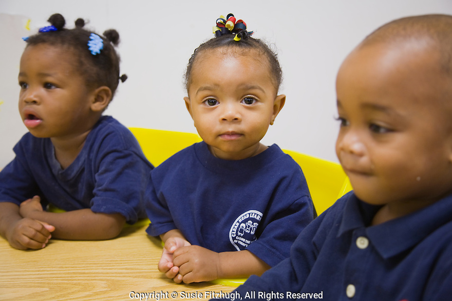 The youngest children wait for their breakfast at the Clear Head Learning Center, New Orleans LA: