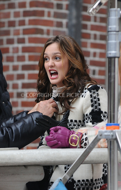 WWW.ACEPIXS.COM . . . . .  ....December 9 2008, New York City....Actress Leighton Meester was on the Midtown Manhattan set of the TV show 'Gossip Girl' on December 9 2008 in New York City....Please byline: AJ Sokalner - ACEPIXS.COM..... *** ***..Ace Pictures, Inc:  ..tel: (212) 243 8787..e-mail: info@acepixs.com..web: http://www.acepixs.com