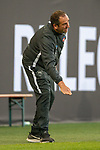 Frank Schmidt, Trainer (FC Heidenheim), Geste, Tief,<br /> <br /> GER, FC Heidenheim vs. Werder Bremen, Fussball, Bundesliga Religation, 2019/2020, 06.07.2020,<br /> <br /> DFB/DFL regulations prohibit any use of photographs as image sequences and/or quasi-video., <br /> <br /> <br /> Foto: EIBNER/Sascha Walther/Pool/gumzmedia/nordphoto