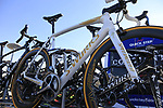 Tom Boonen (BEL) Quick-Step Floors custom Specialized spare bike atop the team car before the start of Gent-Wevelgem in Flanders Fields 2017, running 249km from Denieze to Wevelgem, Flanders, Belgium. 26th March 2017.<br /> Picture: Eoin Clarke | Cyclefile<br /> <br /> <br /> All photos usage must carry mandatory copyright credit (&copy; Cyclefile | Eoin Clarke)