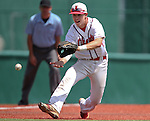 Liberty's Nick Rush makes a play against Centennial in the NIAA Division I state baseball championship game, in Reno, Nev., on Saturday, May 24, 2014. Liberty defeated Centennial 5-3 to win the title. (Las Vegas Review-Journal, Cathleen Allison)