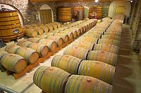 Domaine de Mas de Martin, St Bauzille de Montmel. Gres de Montpellier. Languedoc. Barrel cellar. France. Europe.