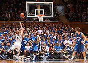 Kyle Singler makes a layup at the Duke vs. St. Louis basketball game Saturday, December 11, 2010. (Photo by Al Drago)