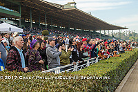 ARCADIA, CA  DECEMBER 26: Opening day crowd on December 26, 2017 at Santa Anita Park in Arcadia, CA.(Photo by Casey Phillips/ Eclipse Sportswire/ Getty Images)