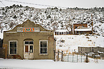 IML Trucking building, Austin, Nev., snow