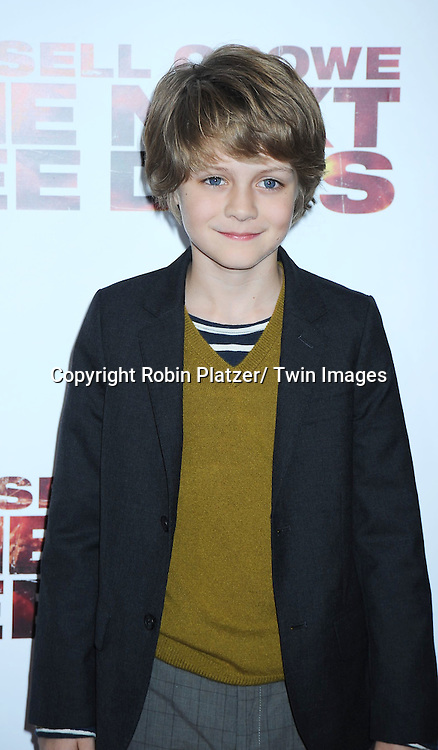 "actor Ty Simpkins attending the New York Special Screening of ""The Next Three Days"" on November 9, 2010 at the Ziegfeld Theatre. The movie stars Russell Crowe, Elizabeth Banks and Olivia Wilde."