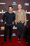 "LOS ANGELES, CA. - October 18: Musicians Jimmy Chamberlin and Billy Corgan (L-R) of the Smashing Pumpkins  arrive at the Spike TV's ""Scream 2008"" Awards at The Greek Theater on October 18, 2008 in Los Angeles, California."