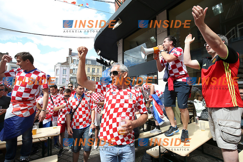 Tifosi Croazia Fans Croatia<br /> Lens 256-06-2016 Stade Bollaert-Delelis Football Euro2016 Croatia - Portugal / Croazia - Portogallo of 16. Foto Gwendoline Le Goff / Panoramic / Insidefoto
