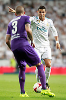 Real Madrid's Cristiano Ronaldo (r) and ACF Fiorentina's Cristiano Biraghi during Santiago Bernabeu Trophy. August 23,2017. (ALTERPHOTOS/Acero) /NortePhoto.com