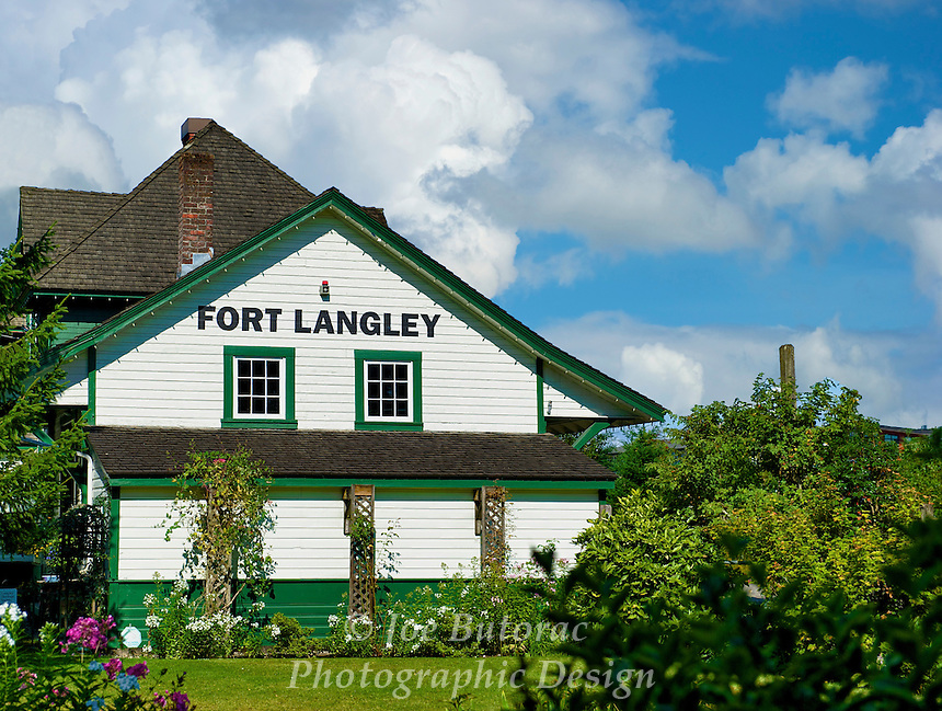 CN Fort Langley Train Station Built in 1915, Fort Langley B.C.