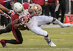 San Francisco 49ers free safety Eric Reid (35) tackles Arizona Cardinals running back David Johnson (31) on Thursday, October 06, 2016 at Levis Stadium in Santa Clara, California. The Cardinals defeated the 49ers 33-21.