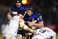 Paul Grant of Bath Rugby takes on the Leicester Tigers defence. Anglo-Welsh Cup match, between Bath Rugby and Leicester Tigers on November 10, 2017 at the Recreation Ground in Bath, England. Photo by: Patrick Khachfe / Onside Images