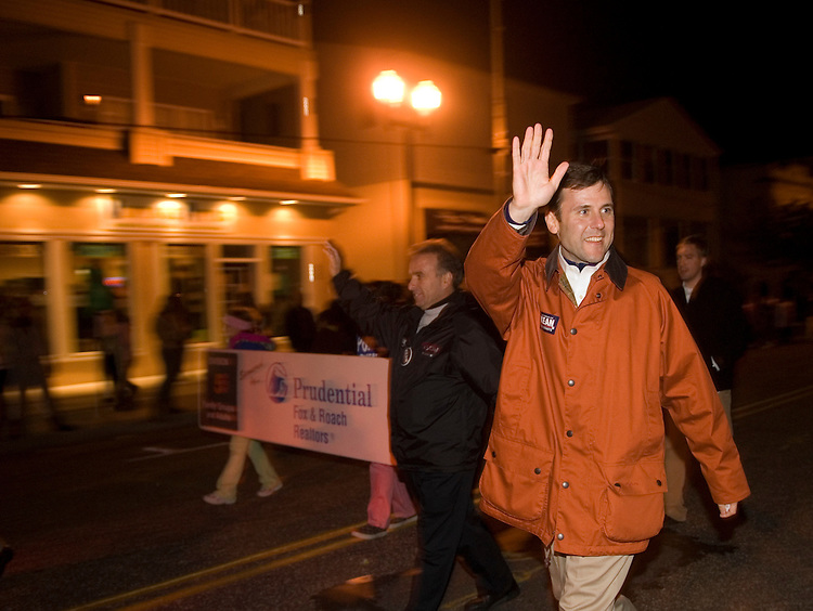 Tom Kean, Republican candidate for the New Jersey U.S. Senate seat held by Sen. Robert Menendez, D-N.J., walks in the Ocean City, N.J., Hallowen parade on Thursday, Oct. 26, 2006.