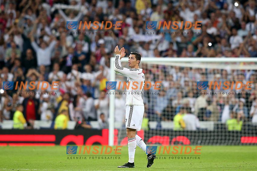 Real Madrid's Cristiano Ronaldo celebrates the victory in La Liga match.October 25,2014. (ALTERPHOTOS/Acero) <br /> Clasico<br /> Foto Insidefoto