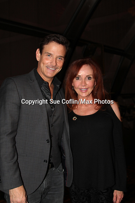 Guiding Light's Sean McDermott poses with General Hospital's Jacklyn Zeman at The 29th Annual Jane Elissa Extravaganza which benefits The Jane Elissa Charitable Fund for Leukemia & Lymphoma Cancer, Broadway Cares and other charities on November 14, 2016 at the New York Marriott Hotel, New York City presented by Bridgehampton National Bank and Walgreens.  The event is a Cabaret with singer Sean McDermott (Guiding Light) (Photo by Sue Coflin/Max Photos)