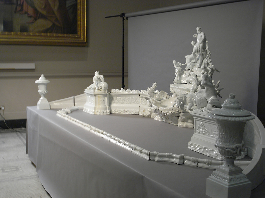 Meissen Table Fountain: RCA ceramists used 3D scanning and CNC machining to complete the restoration of a unique 18th Century porcelain table fountain.