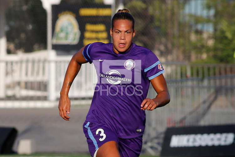 Rochester, NY - Saturday June 11, 2016: Orlando Pride defender Toni Pressley (3) during a regular season National Women's Soccer League (NWSL) match between the Western New York Flash and the Orlando Pride at Rochester Rhinos Stadium.