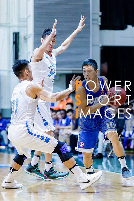 Yang Ricky #10 of Eastern Long Lions handles the ball against the Fukien during the Hong Kong Basketball League game between Fukien and Eastern Long Lions at Southorn Stadium on June 19, 2018 in Hong Kong. Photo by Yu Chun Christopher Wong / Power Sport Images