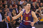 Turkish Airlines Euroleague 2017/2018.<br /> Regular Season - Round 23.<br /> FC Barcelona Lassa vs R. Madrid: 74-101.<br /> Thomas Heurtel.