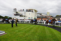 A general view of the Parade Ring during Afternoon Racing at Salisbury Racecourse on 7th August 2017