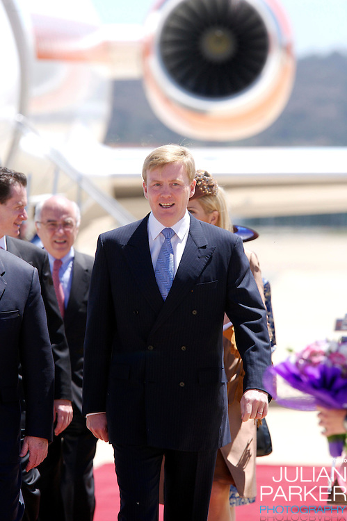 Crown Prince Willem-Alexander & Crown Princess Maxima of the Netherlands six-day tour of Australia..Arrival at Canberra Airport..