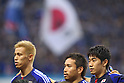 (L to R) .Keisuke Honda (JPN), .Yuto Nagatomo (JPN), .Shinji Kagawa (JPN), .JUNE 8, 2012 - Football / Soccer : .FIFA World Cup Brazil 2014 Asian Qualifier .Final Round Group B .between Japan 6-0 Jordan .at Saitama Stadium 2002, Saitama, Japan. .(Photo by YUTAKA/AFLO SPORT) [1040]