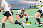 The Hague, Netherlands, June 10: Katharina Otte #13 of Germany stops the ball during the field hockey group match (Women - Group B) between Germany and England on June 10, 2014 during the World Cup 2014 at Kyocera Stadium in The Hague, Netherlands. Final score 1-3 (0-0) (Photo by Dirk Markgraf / www.265-images.com) *** Local caption ***