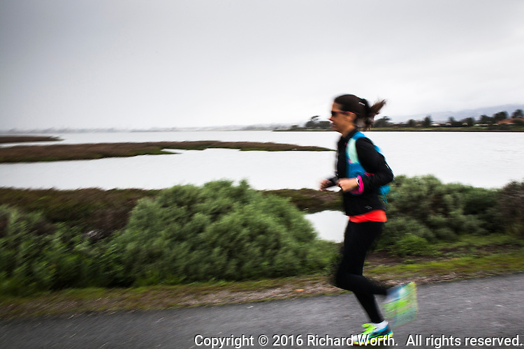 Training for a marathon means running.  Rain or shine, you run.