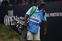 Caddie Zach during a practice round ahead of the 148th Open Championship, Royal Portrush Golf Club, Portrush, Antrim, Northern Ireland. 16/07/2019.<br /> Picture David Lloyd / Golffile.ie<br /> <br /> All photo usage must carry mandatory copyright credit (© Golffile | David Lloyd)